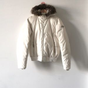 HostPick Polo Ralph Lauren White Fur Down Jacket L
